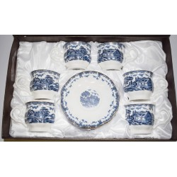 Сервиз за чай Къща в синьо, порцелан, 12 части