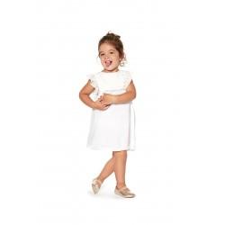 Бебешка рокля Losan, Бял шифон